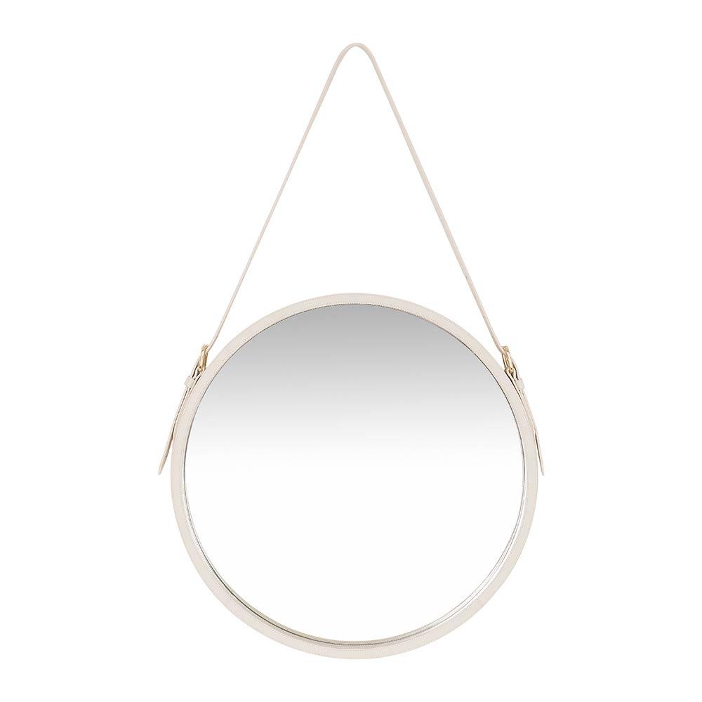 Espelho Cuir Offwhite M