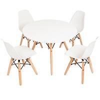 Conjunto Mesa E Cadeiras Kids Charles Eames